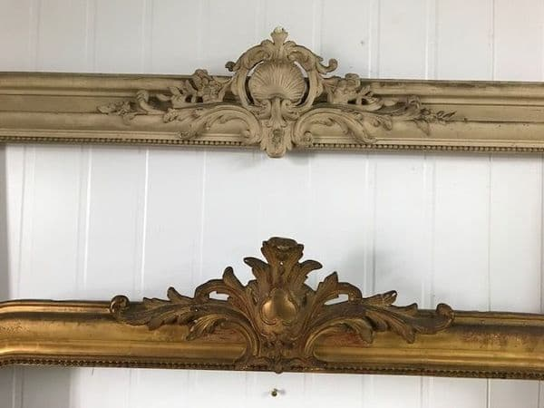 BOTH NOW SOLD - Impressive  Antique French Mirror Frames
